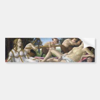 Venus and Mars by Sandro Botticelli Bumper Sticker