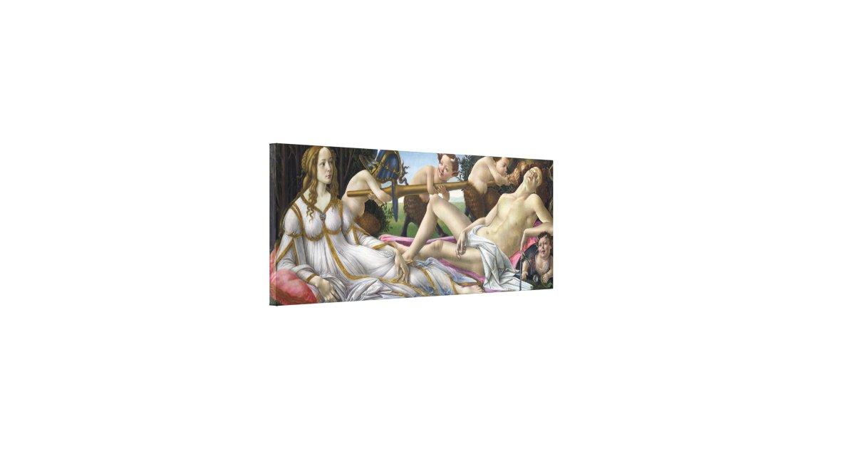 Venus and Mars by Sandro Botticelli Canvas Print | Zazzle.com