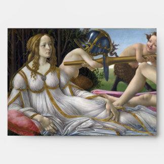 Venus and Mars by Sandro Botticelli Envelope