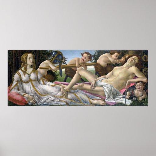 Venus and Mars, Sandro Botticelli Poster