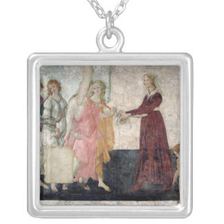 Venus and the Graces Square Pendant Necklace