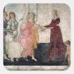 Venus and the Graces Square Sticker