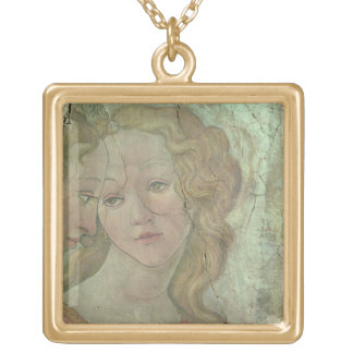 Venus and the Three Graces Offering Gifts to a You Square Pendant Necklace