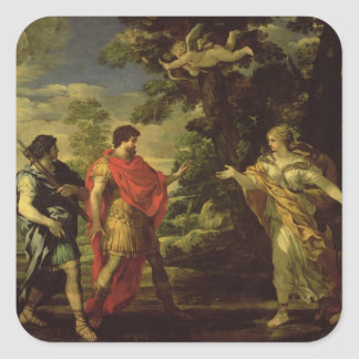 Venus Appearing to Aeneas as a Huntress, c.1635 (o Square Sticker