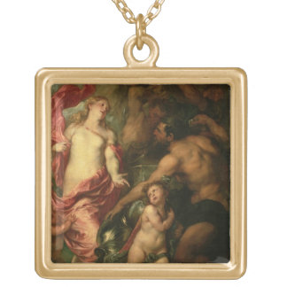 Venus asking Vulcan for the Armour of Aeneas (oil Necklaces