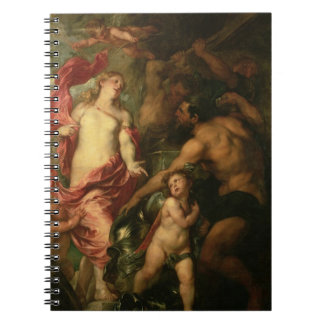 Venus asking Vulcan for the Armour of Aeneas (oil Note Books