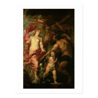 Venus asking Vulcan for the Armour of Aeneas (oil Postcard