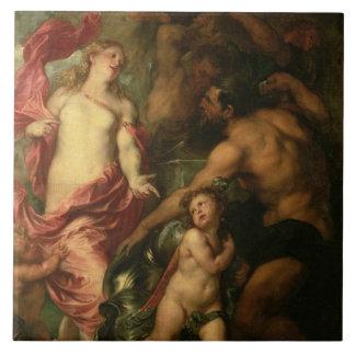 Venus asking Vulcan for the Armour of Aeneas (oil Ceramic Tile