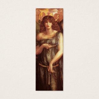 Venus Astarte Bookmark by Dante Gabriel Rossetti Mini Business Card
