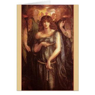 Venus Astarte Syriaca Pre-Raphaelite Art Card