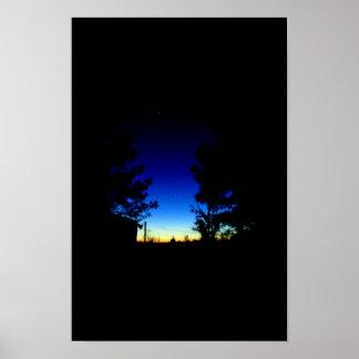 Venus at sunset poster
