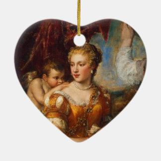 Venus Blindfolding Cupid Ceramic Ornament