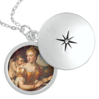 Venus Blindfolding Cupid Personalized Necklace