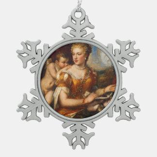 Venus Blindfolding Cupid Snowflake Ornament