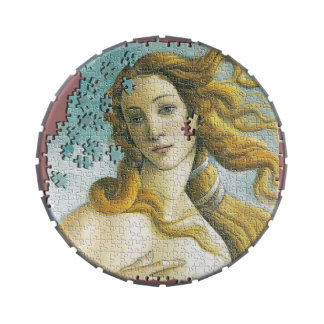 Venus Botticelli classic art jigsaw puzzle Jelly Belly Candy Tins