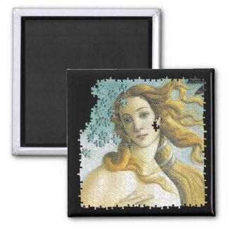 Venus Botticelli puzzle 2 Inch Square Magnet