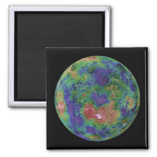 Venus centered on the North Pole Refrigerator Magnets