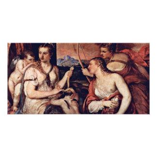 Venus Combines Amor Eyes By Tizian Customized Photo Card