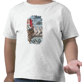 Venus comes to the rescue on a chariot drawn shirt