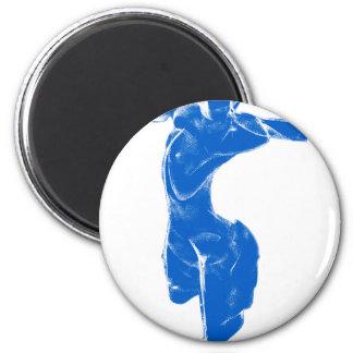 Venus de Milo azul Imán Redondo 5 Cm