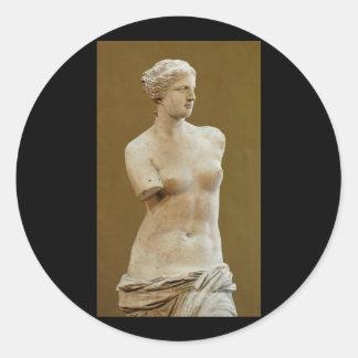 Venus de Milo Classic Round Sticker