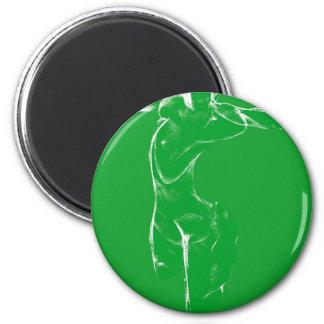 Venus de Milo en verde Imán Redondo 5 Cm