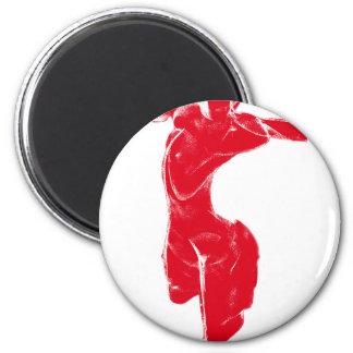 Venus de Milo rojo Imán Redondo 5 Cm