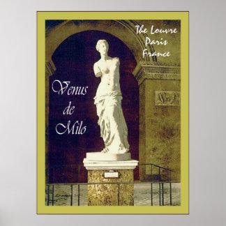 Venus de Milo ~ The Louvre ~ Paris ~ Vintage Poster