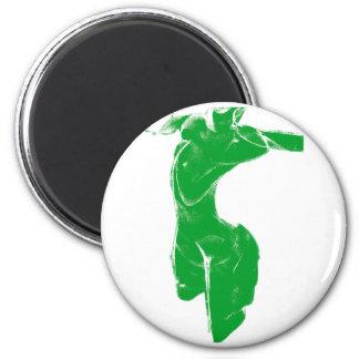 Venus de Milo verde Imán Redondo 5 Cm