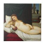 Venus de Urbino por Titian Tejas Ceramicas