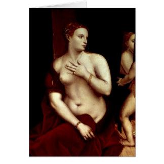 Venus delante del espejo tarjeta de felicitación