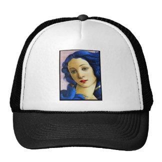 Venus en azul gorros bordados
