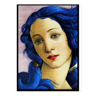 Venus en azul postal