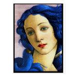 Venus en azul postales