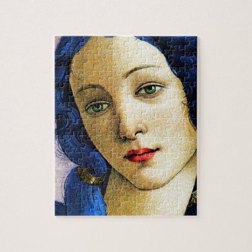 Venus en azul rompecabeza con fotos