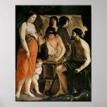 Venus en la fragua de Vulcan, 1641 Póster