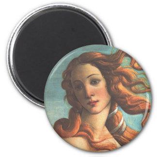 Venus en Mitad-SHELL (detalle) Imán Redondo 5 Cm