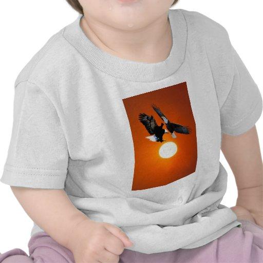 Venus en tránsito con dos águilas camiseta