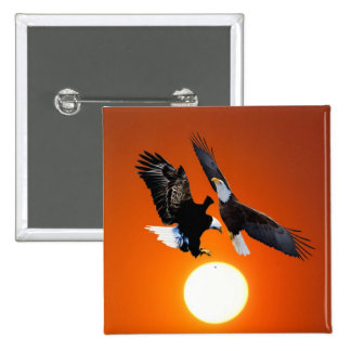 Venus en tránsito con dos águilas pin