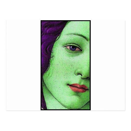 Venus en verde postal