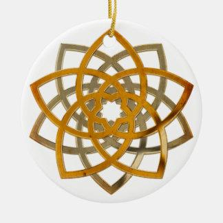 Venus Flower Duo - antique metal Ornament