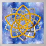 Venus flower duo gold Silver | blue university ver Poster
