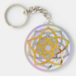 Venus flower duo gold Silver | spot light Keychain