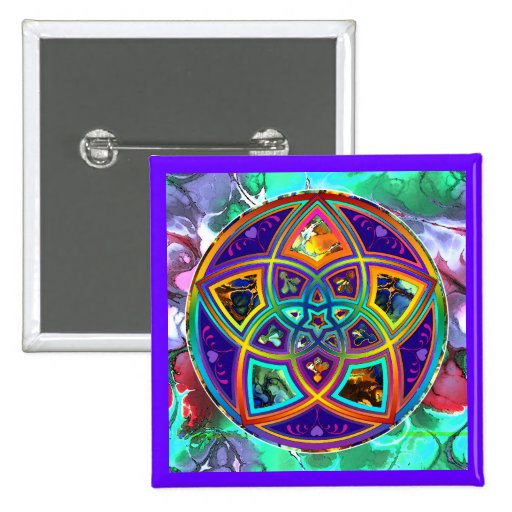 Venus Flower of Love fineART Flower Power / Square Pins