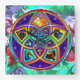 Venus Flower of Love fineART Flower Power / Square Square Wall Clock