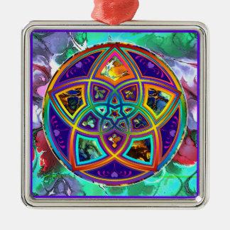 Venus Flower of Love fineART Flower Power / Square Metal Ornament