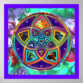 Venus Flower of Love fineART Flower Power / Square Poster