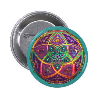 Venus Flower of Love fineART Oriental Antique Gold 2 Inch Round Button