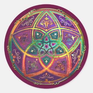 Venus Flower of Love fineART Oriental Antique Gold Classic Round Sticker