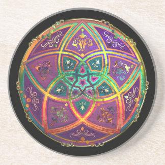 Venus Flower of Love fineART Oriental Antique Gold Sandstone Coaster